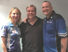 Trina with David King her Web Developer and Mark McGeeney