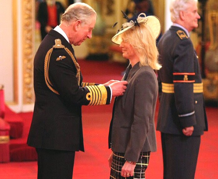 HRH Prince Charles - Trina Receiving the MBE