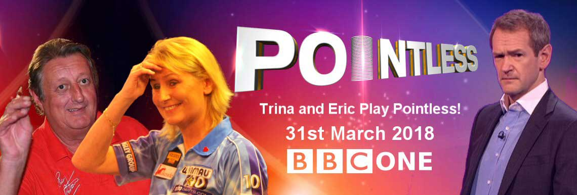 trina Gulliver / Eric Bristow Pointless TV Game Show
