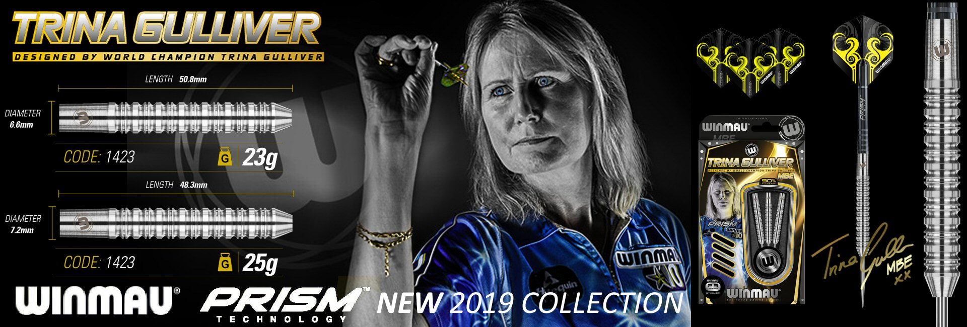 New Trina Gulliver MBE 2019 Tungsten Darts